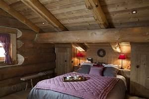 Deco Chambre Bois : deco chambre chalet montagne 2 clipgoo ~ Melissatoandfro.com Idées de Décoration