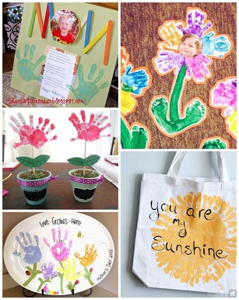 mothers day handprint crafts gift ideas  kids