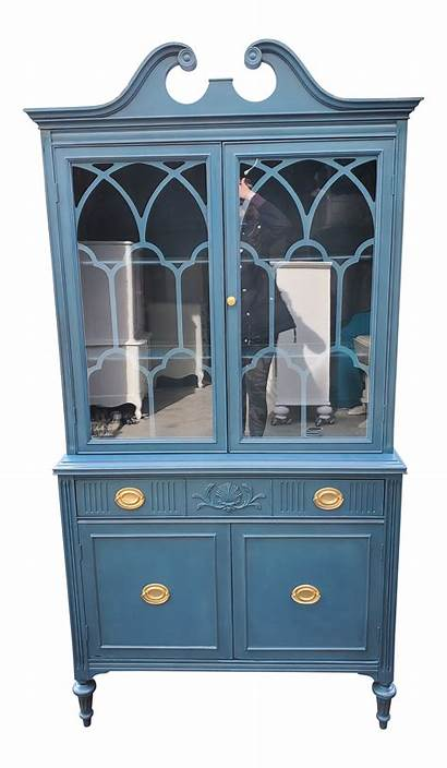 China Cabinet Painted Distressed Aubusson Cabinets Living