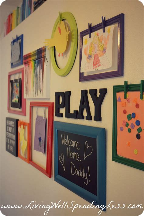Rainbow Family Room Kids Playroom Decorating Ideas Diy
