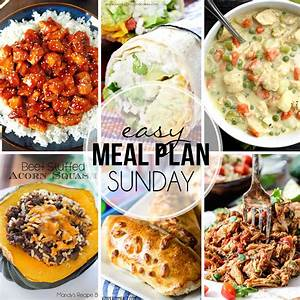 Easy Meal Plan Sunday #23 Mandy's Recipe Box