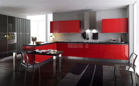 cocina rojo negro balt muebles muebles de cocinas