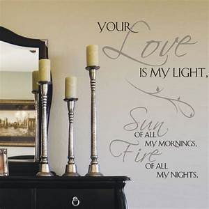 Quote wall stickers for bedrooms : Bedroom wall art decals quotes