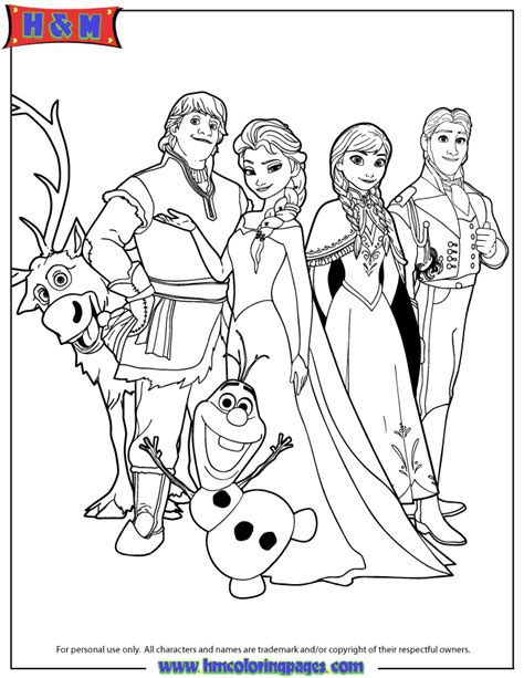 disneys frozen characters coloring page   coloring pages