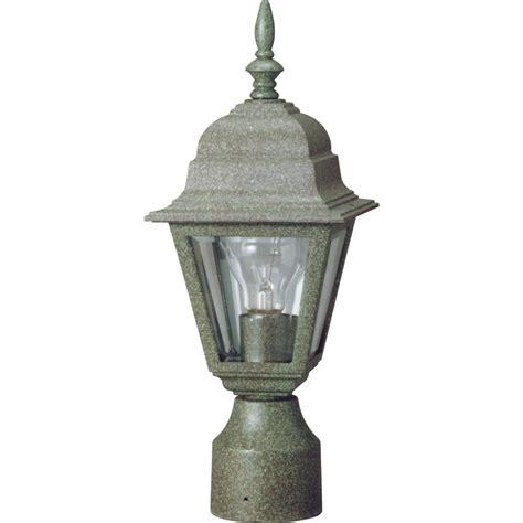 volume lighting 1 light verde green outdoor post light