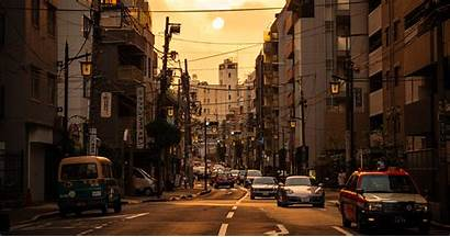 Tokyo Desktop Wallpapers Street Setting Lights Japan