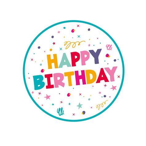 Happy Birthday Edible Images | Multicoloured Birthday ...