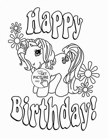 Happy Coloring Birthday Pages Sister Printable Cards