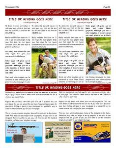 personal general newspaper templates images