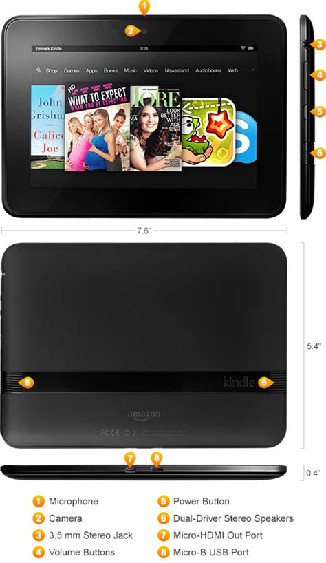 Kindle Fire HD - Released 2012 - Fact Sheet