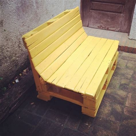 pallet bench   backyard pallet furniture plans