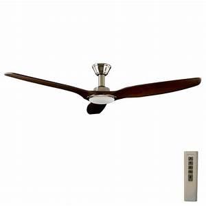 Trident dc ceiling fan high airflow led light satin