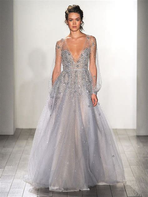 blue wedding gowns ideas  pinterest blue