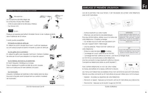parrot ck3100 s free car kit user manual ck3100 10 05 04 en fr