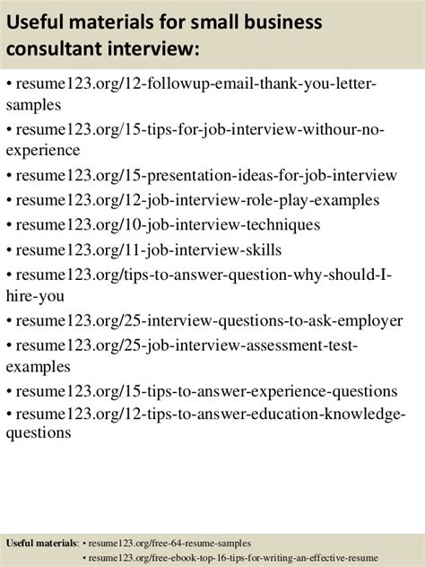 resume for small business consultant top 8 small business consultant resume sles