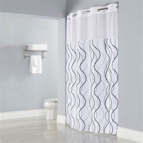 interesting bathroom design with shower curtain with