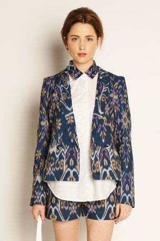 ikat blazer beautiful fashion style pinterest