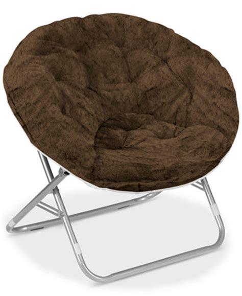 folding saucer chair adults arron faux fur saucer chair ship furniture