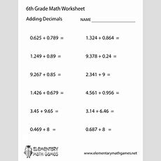 6th Grade Math Printables Boxfirepress