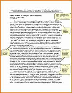 Literature review template art resume examples for Template for writing a literature review