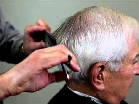 men s haircut how to cut men s hair with scissors youtube