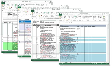 compliance matrix sample