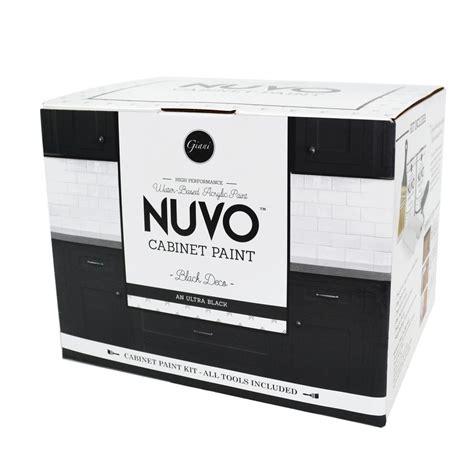 nuvo cabinet paint lowes nuvo 2 qt black deco cabinet paint kit fg nu blck ki r