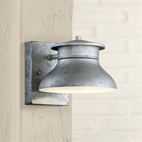 danbury 5 quot high galvanized steel led outdoor wall light