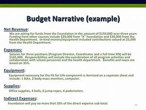2009 healthy lifestyles pre proposal powerpoint With sample budget narrative template