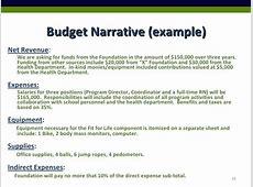 Narrative Budget Template budget template free