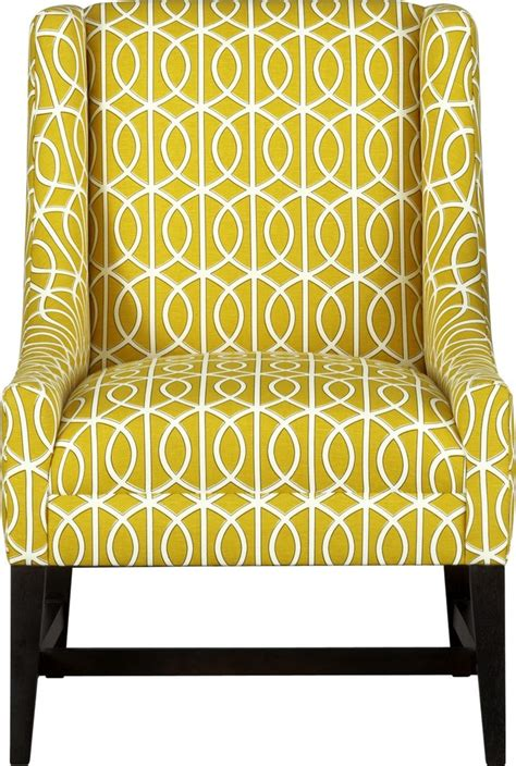 yellow accent chair for the home patterned