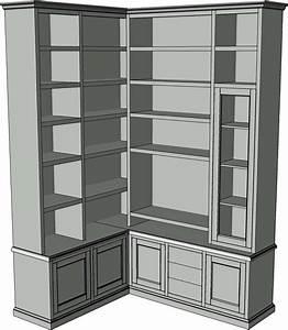 Mobile libreria porta tv angolo La Commode di Davide Corno