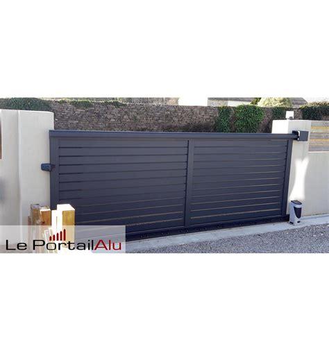 Portail Brise Vue Aluminium Ouverture Coulissante LePortailAlu