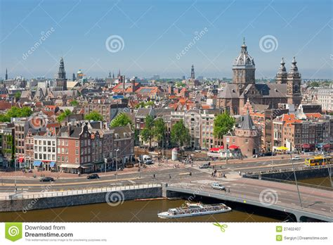 Busy City Life Of Amsterdam Editorial Photography Image