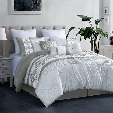 White Coverlet Set by 7 Payton Gray White Comforter Set