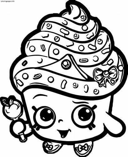 Coloring Pages Shopkins Cupcake Pdf Queen Clipartmag