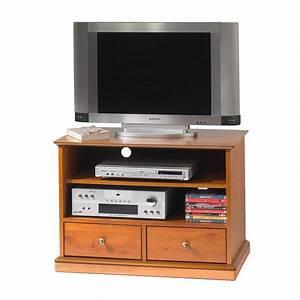 Meuble Tv Hifi : meuble tv hifi merisier louis philippe sur roulettes maison et styles ~ Teatrodelosmanantiales.com Idées de Décoration