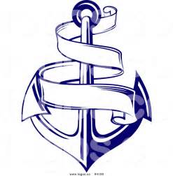 Anchor with Banner Clip Art