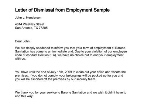 letter  dismissal