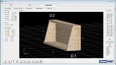 term pro loudspeaker enclosure design software video