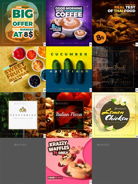 cuisine instagram 50 food instagram banners by graycells graphic graphicriver