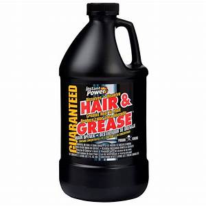 instant power 676 oz hair and grease drain opener 1970 With best way to clean up hair in bathroom