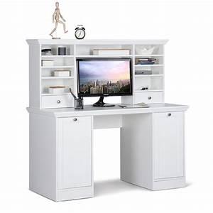 Schreibtische Weiß : schreibtisch mit aufsatz landstr m 33 wei 136x138x63 cm ~ Pilothousefishingboats.com Haus und Dekorationen