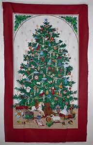 christmas tree door cover fabric panel quilting cotton from