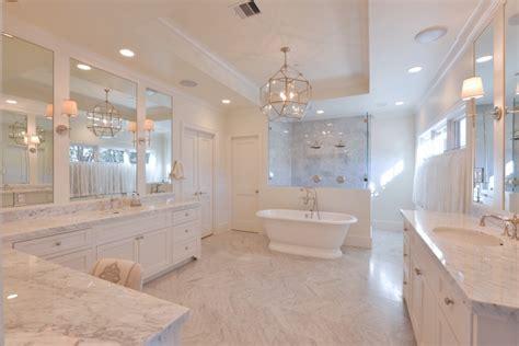 Bathtub in Front of Shower - Transitional - Bathroom