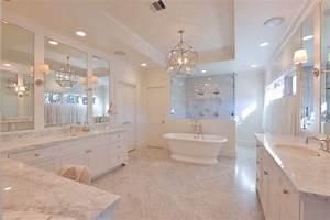Bathtub In Front Of Shower Transitional Bathroom
