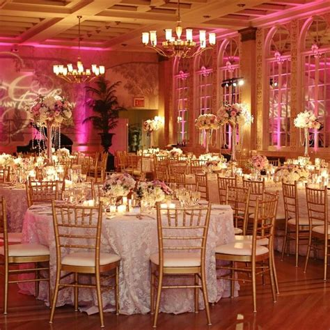 Glam Pink and Gold Reception Gold wedding reception