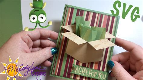Home 3d svg cut files christmas shadow box card. Flattened Box Card - Free SVG - YouTube