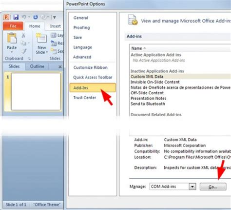 How To Add Template In Powerpoint by How To Enable Or Disable Add Ins In Powerpoint 2010