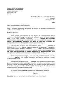 Modification Verbale Du Contrat De Travail by Modele Lettre Denonciation Resiliation Loyer Modele Lettre